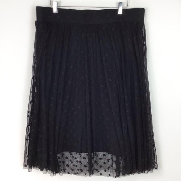 torrid Dresses & Skirts - Torrid Polka Dot midi tulle Sheer black Party 2